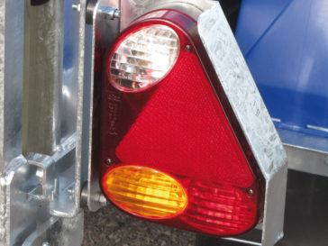 Recessed lights on dampers.