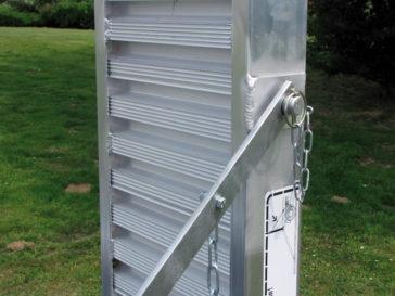 Aluminium ramps adjustable for length.
